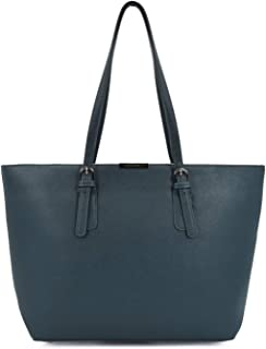cbaa1e524 David Jones - Women's Large Tote Shopper - Top Handle Handbag PU Leather -  Shoulder Shopping
