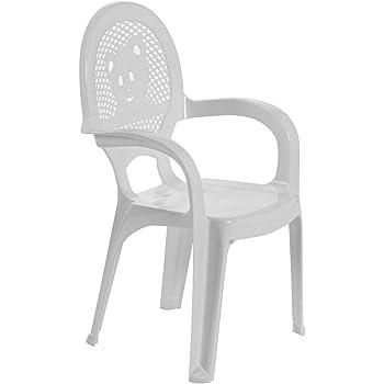 Chaise en plastique pour jardinextérieur pour enfant blanc meuble pour enfant lot de 2