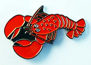 Metal Enamel Pin Badge Brooch Red Lobster (Nemo : Jaques Larry Sebastian) by Mainly Metal
