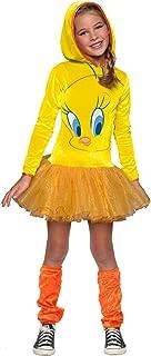 Rubie's Looney Tunes Tweety Bird Girls Hooded Costume, Medium