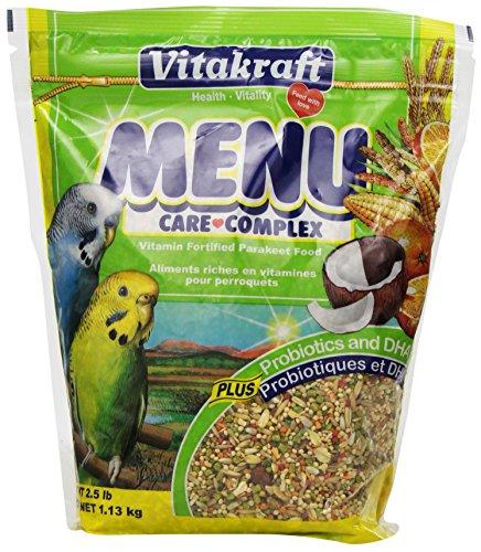 Vitakraft Menu Vitamin Fortified Parakeet Food, 2.5 Lb.