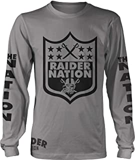 Raider Nation Sword Long Sleeve Heather Grey T-Shirt (Limited Edition)
