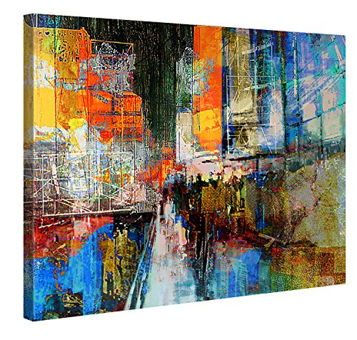 Quadro/stampa da parete su tela, di elevata qualità, con telaio in legno, produzione tedesca, decorazione moderna, 100 x 75 cm