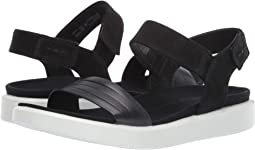 ebc24470fa Black/Black Cow Leather/Cow Nubuck. 149. ECCO. Flowt Strap Sandal