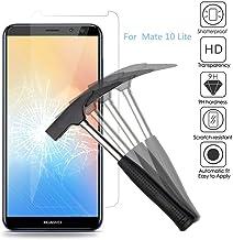 2x Huawei Mate 10 Lite Protector de Pantalla, Huawei Mate 10 lite Cristal Templado, EJBOTH Vidrio templado protector- Ultra resistente Dureza 9H Anti-burbuja Alta definición para Huawei Mate 10 Lite.