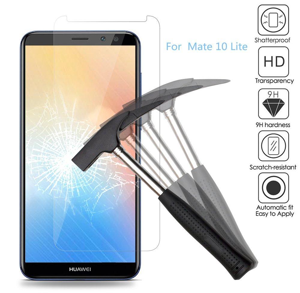 2x Huawei Mate 10 Lite Protector de Pantalla, Huawei Mate 10 lite Cristal Templado, EJBOTH Vidrio templado protector- Ultra resistente Dureza 9H Anti-burbuja Alta definición para Huawei Mate 10 Lite.: Amazon.es: Electrónica