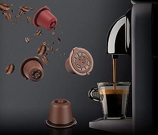 Kit 6 Cápsulas Nespresso Reutilizável Recarregável Preto + acessórios