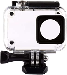 غطاء واقي مضاد للماء لكاميرا اكشن شاومي واي اي بدقة 4K،لاغراض الغطس، 2 بطانة واقية باللون الاسود