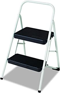 Cosco 11135CLGG1 2-Step Folding Steel Step Stool, 200lbs, 17 3/8w x 18d x 28 1/8h, Cool Gray