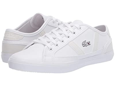 Lacoste Kids Sideline 120 2 CUJ (Little Kid/Big Kid) (White/Off-White) Kid