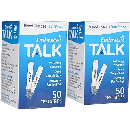 Omnis Health Embrace Blood Glucose Test Strips 100ct