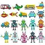 GLCS GLAUCUS 18 Piezas 5D Diamante Stickers Kits de Pintura de Diamantes para Niños Mosaicos Dibujo...