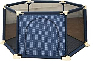 LHR888 Protective Fence Game fence shatter-resistant fence home crawling fence toddler fence safety fence fence home Play Yard Color BLUE Size 150 150 67CM