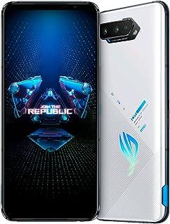 هاتف اسوس روج فون 5 ثنائي الشريحة بسعة 12 جيجا وبذاكر رام 128 جيجا بتقنية 5G- (اصدار العاب تينسينت) ابيض