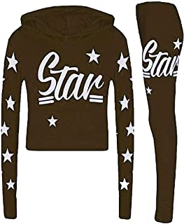 Rimi Hanger Children Star Printed Jogging Tracksuit Unisex Loungewear Sweatshirt Hoodie 7-13 Years