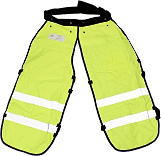 "Felled | Safety Chainsaw Chaps – Logging Tools Chainsaw Safety Gear with Pocket, Chainsaw Apron Chaps in Green, 35"" Inch"