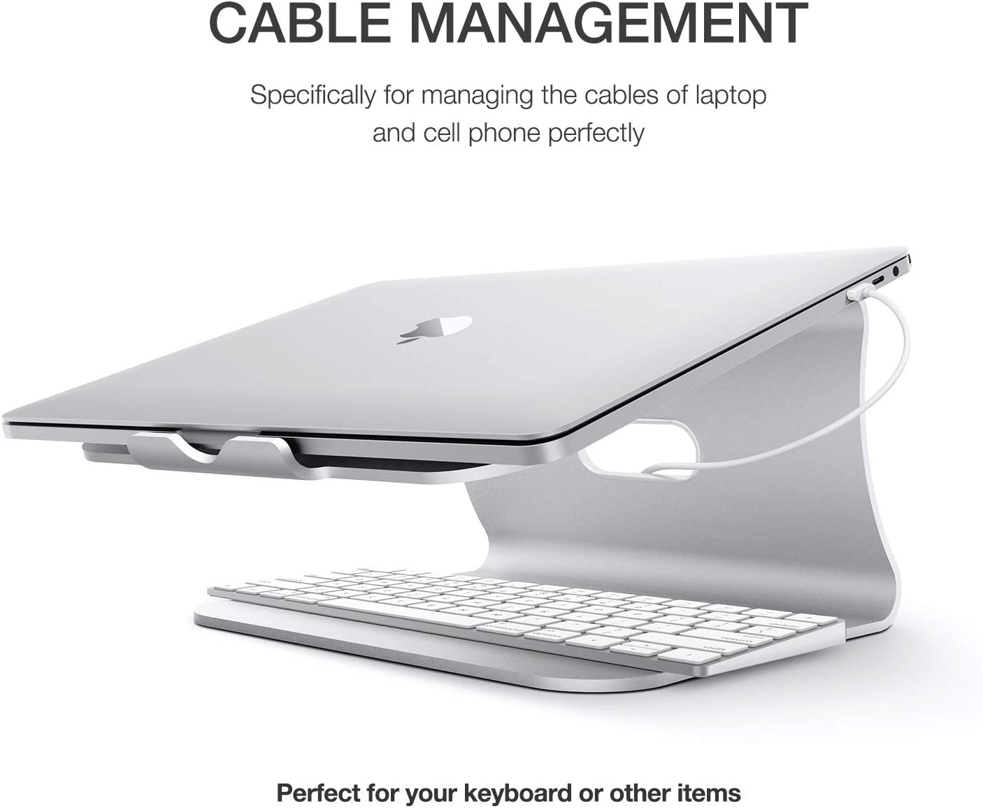 MacBook Pro Patented Sliver Ergonomic Aluminum Cooling Desktop Stand for MacBook Mount Holder for Apple MacBook Air Bestand Laptop Stand All 11-16 Laptop