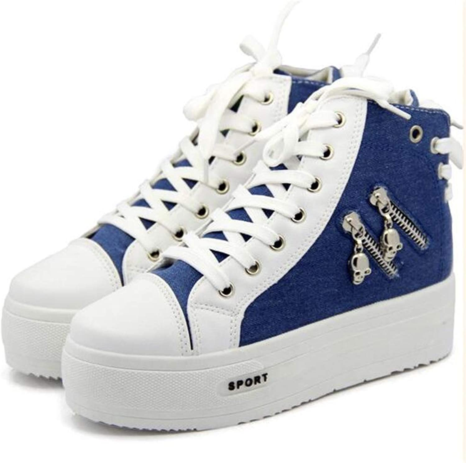 FORTUN Popular Women's shoes high Canvas shoes Walking shoes Thick Sneakers