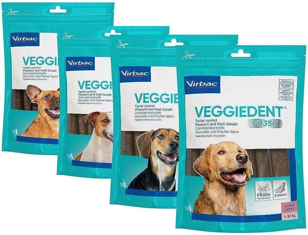 Snacks FR3SH para perros Virbac VeggieDent Paquete de 15