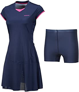 Quick Dry Tennis🎾 Dresses👗 with Shorts Sports Dress Tennis Clothes for Women Girl