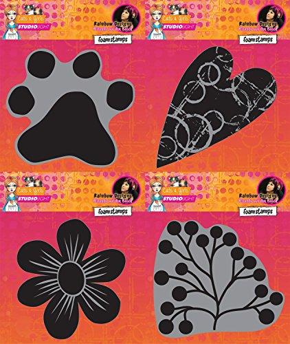 Cats & Girls Tampon en mousse???Lot de 4???Laser???Sur les cartes, carton, bois, gestionnaire d'Album, et bien plus encore