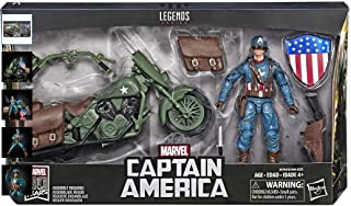 Marvels Legends Series Captain America with Motorcycle