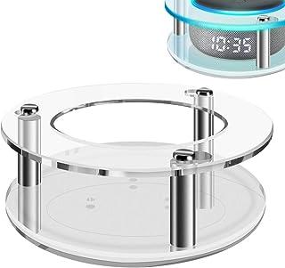 Geekria - Funda de acrílico transparente para Echo Dot (3ª generación) con reloj, soporte de pared para altavoces, soporte...