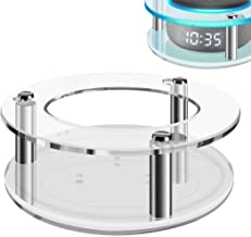 Geekria Acrylic Clear Case for Echo Dot (3rd Gen) with Clock, Ceiling Wall Mount Speaker Stand Stable Guard Holder, Used f...