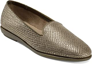 Aerosoles Women's Betunia Driving Style Loafer, Gold Snake, 6.5