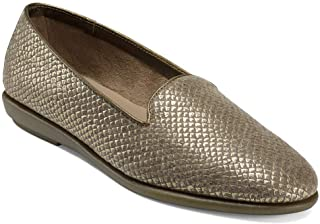 Aerosoles Women's Betunia Driving Style Loafer, GOLD SNAKE, 8