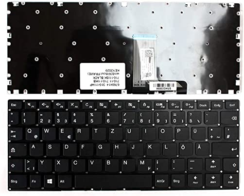 Keyboards4Laptops kompatibel Deutsch Gestaltung Schwarz Windows Laptop Tastatur Ersatz f r Lenovo 1204-01350