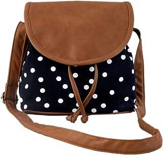 Sakwoods Women Canvas/PU Amie Sling Bag for Girls