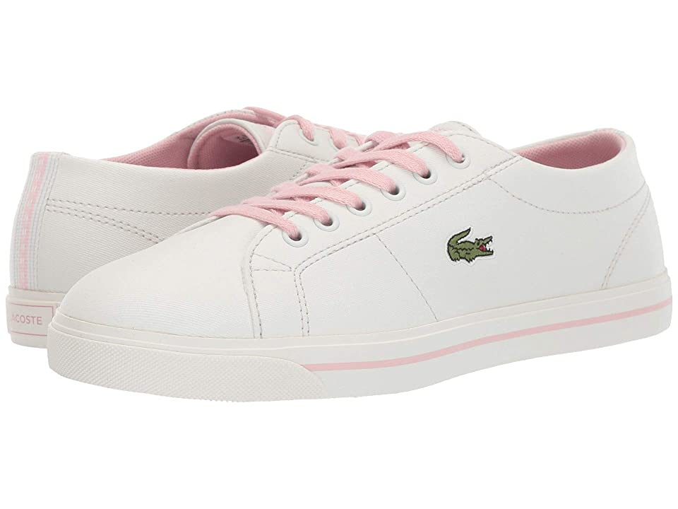 Lacoste Kids Riberac 119 2 CUJ (Little Kid/Big Kid) (Off-White/Light Pink) Girl