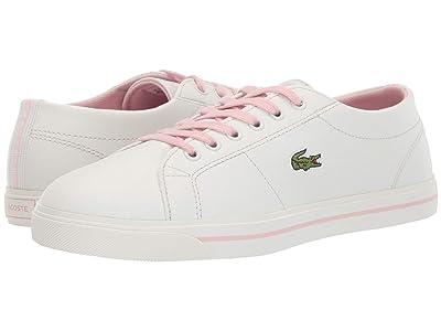 Lacoste Kids Riberac 119 2 CUJ (Little Kid/Big Kid) (Off-White/Light Pink) Girl
