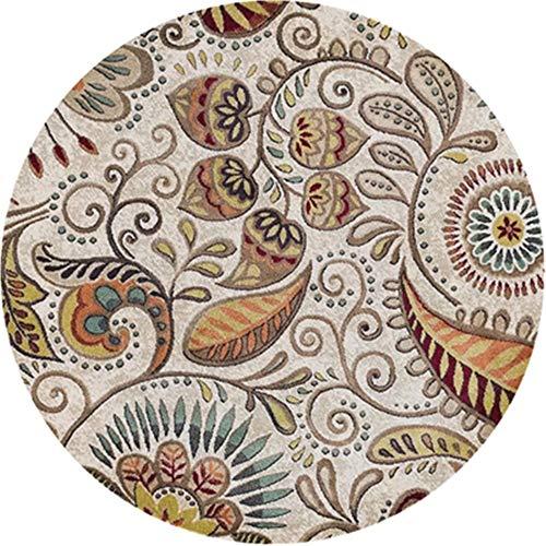 Lzcaure-HO Alfombra Nordic con diseño étnico, súper Suave, Antideslizante, Absorbente, Lavable, Entrada, Zapatos, salón, Silla Vintage étnica, poliéster, 8, 100 cm