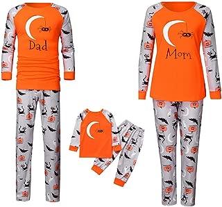 Family Matching Halloween Outfits Cartoon Pumpkin T-Shirt Top Blouse + Pants Family Pyjamas Set Sleepwear Halloween Costume
