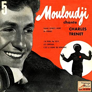 Vintage French No. 119 - EP: Mouloudji Chante Charles Trenet
