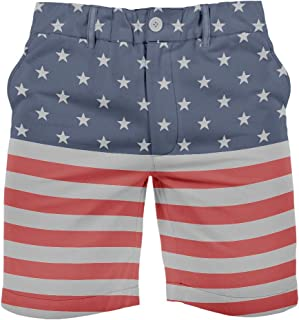 Tipsy Elves Men's USA Patriotic Shorts - American Flag Shorts