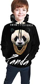 Desiigner Panda Funny and Good-Looking Teen Hooded Sweate Jacket Black Comfortable Classic Boy and Girl Unisex-Baby