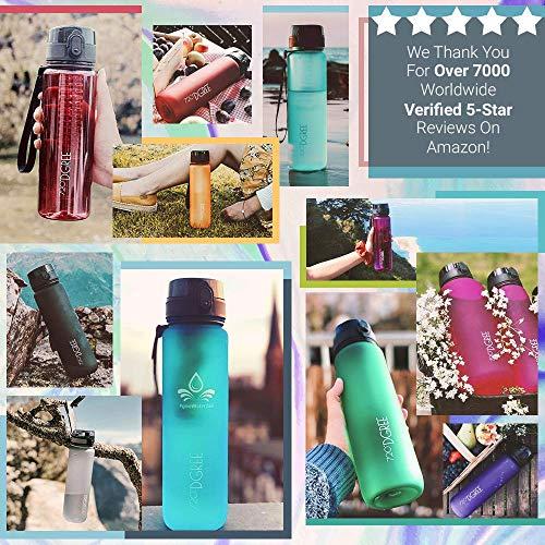 """720°DGREE Trinkflasche """"uberBottle"""" - 500 ml, 0,5 l, Pink - Neuartige Tritan Wasser-Flasche - Water Bottle BPA Frei - Ideale Sportflasche für Kinder, Fitness, Fahrrad, Sport, Fussball - 3"""