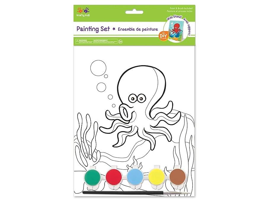 Krafty Kids CK280A Paint-It-Yourself Panel Kit 7.5inx9.38in Octopus