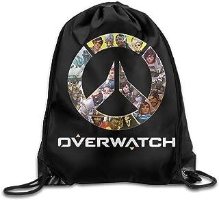 NaDeShop Overwatch OW Logo Drawstring Backpack Sack Bag/Travel Bag