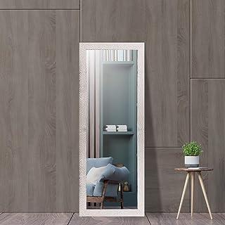 Creative Arts n Frames Silver White Fiber Wood Framed Wall Mirror with Free Multi Purpose Glass Shelf/Tray/Rack/Organizer    Mirror with Multi Purpose Shelf    Size - 15x40 inch   