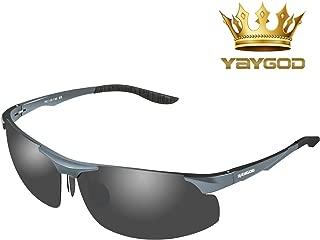 偏光レンズ,サングラス,男女兼用 アルミニウム・マグネシウム合金 UV400紫外線カット偏光サングラス 釣り ドライブアウトドア 登山 自転車 ゴルフ 運転 スポーツサングラス [自由に調整出来、各顔に合わせます]