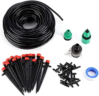 Mainstayae 25MDIY Drip Irrigation System Automatic Watering Garden Hose Micro Drip Watering Kits with Adjustable Drippers