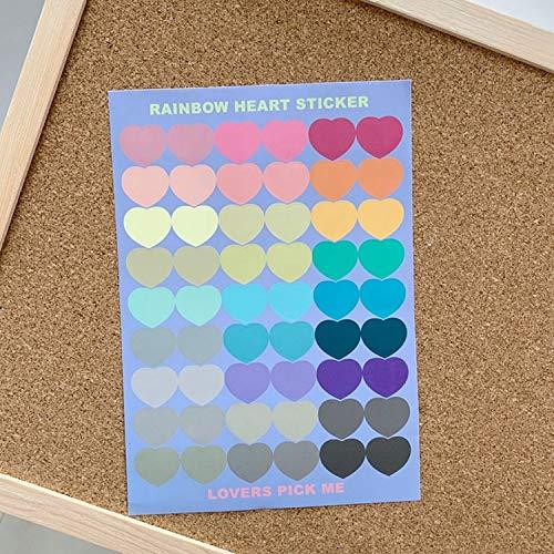 PMSMT Kawaii Candy Farbe Liebe Herz Aufkleber Scrapbooking Dekorative Aufkleber Mädchen DIY Tagebuch Album Stick Label Nettes Briefpapier