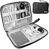 HCFGS Electronics Organizer, Cable Organizer Bag Waterproof Electronics Organizer Travel Case Cord Organizer for Hard Drives, USB Cables, Flash Drive, Phone, SD Card, Power Bank(Black)