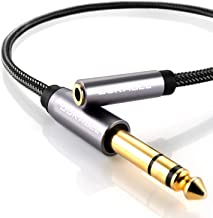 DuKabel TopSeries 6.35mm (1/4 inch) to 3.5mm (1/8 inch) Headphone Jack Adapter, 1/8 (Female) to 1/4 (Male) Extension Cable, 3.5 to 6.35 Audio Cable for Mixer Guitar Piano Amplifier Speaker and More