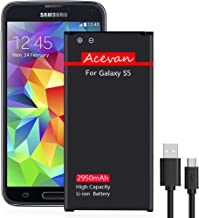 Galaxy S5 Battery Acevan 2950mAh Li-ion S5 Batteries Replacement for Samsung Galaxy S5,..