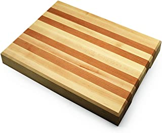 Premium Maple & Cherry Hardwood Cutting Board Made In The USA (16X12)